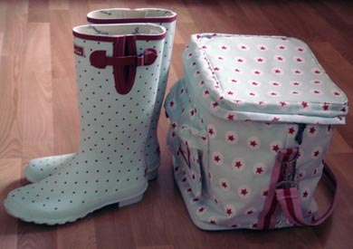 Joules Wellies and Bag
