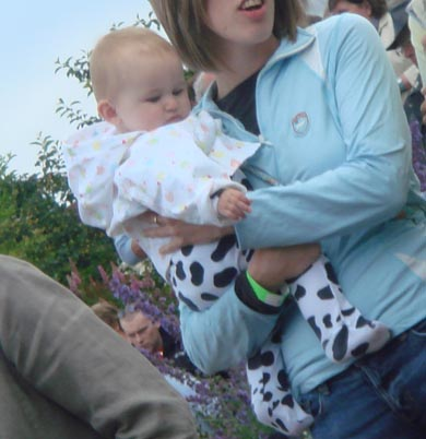 baby dress as a cow!