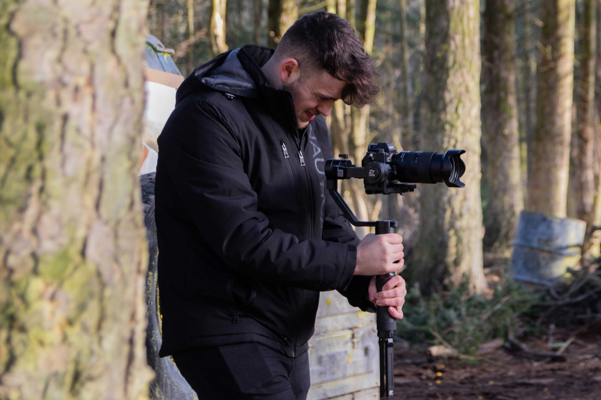 camera team during a take
